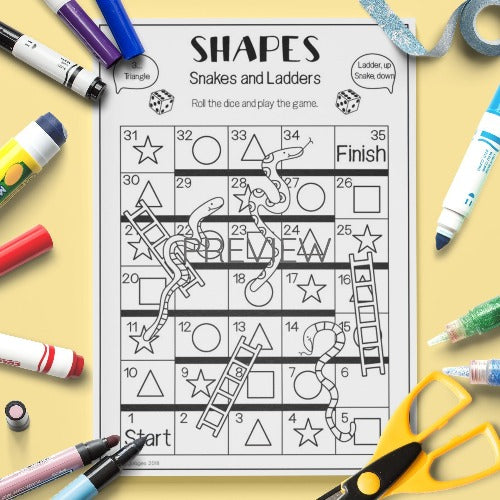Shapes 'Snakes and Ladders' Game