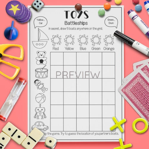 ESL English Kids Toys Battleships Game Worksheet