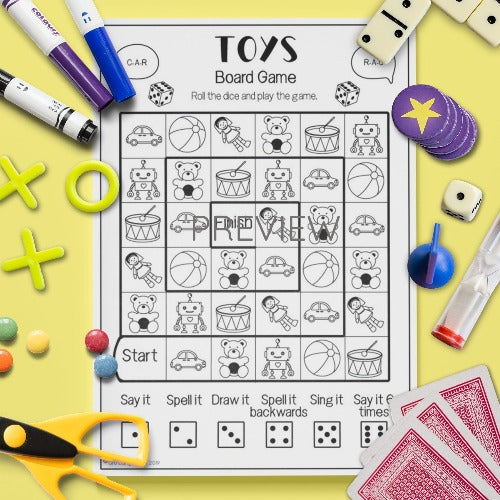 ESL English Kids Toys Board Game Worksheet