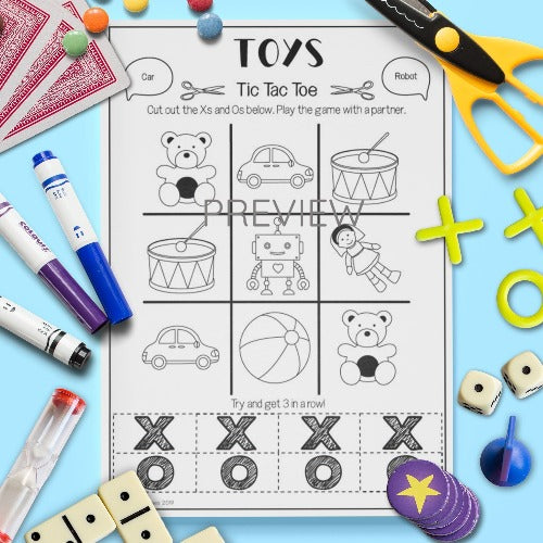 ESL English Kids Toys Tic Tac Toe Game Worksheet