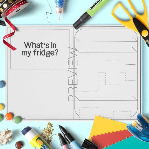 ESL English Fridge Pop Up Craft Activity Worksheet