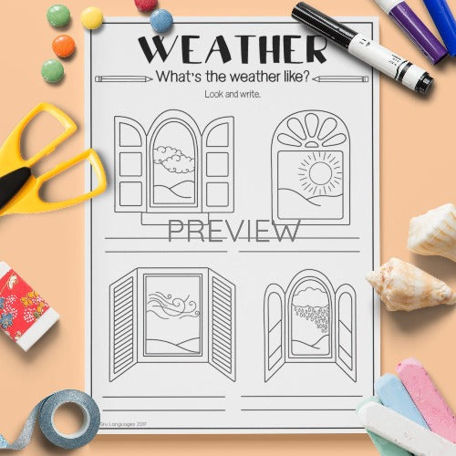ESL English Kids Weather What's The Weather Like? Worksheet