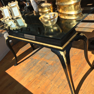 Antique Gold + Black Table