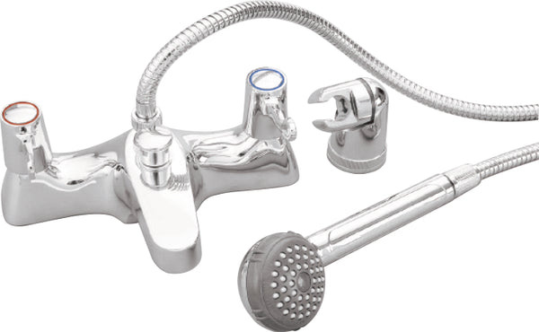 Skara Deck 1/4 Turn Bath Shower Mixer And Shower Kit