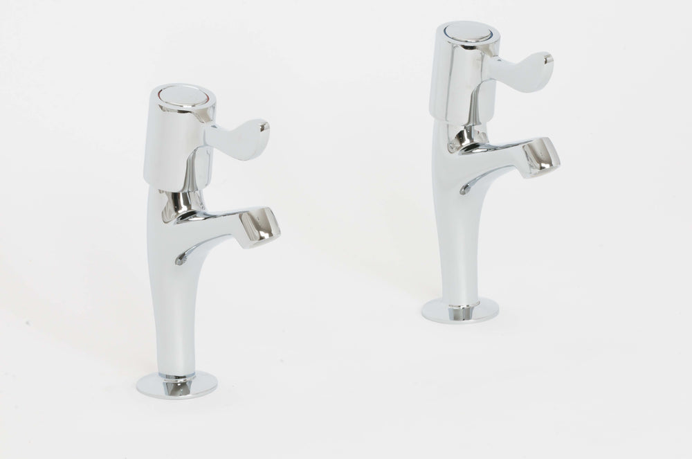Skara 1/4 Turn Level Bath Pillar Taps