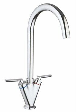 Crieff Chrome Twin Cruciform Sink Mixer