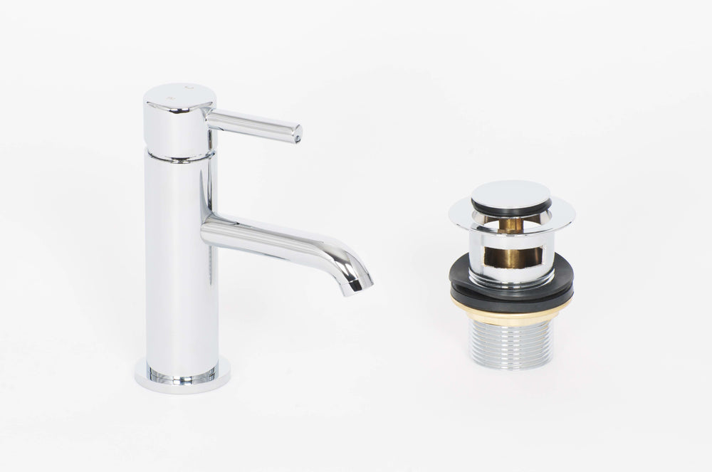 Elgin Cloakroom Mono Basin Mixer And Push Waste With Slotted Waste