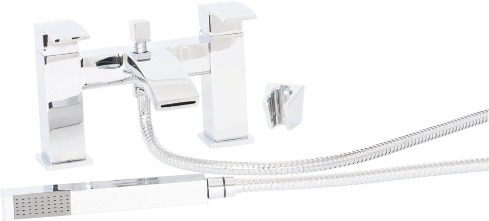 Lauder Deck Bath Shower Mixer CW Shower kit CP