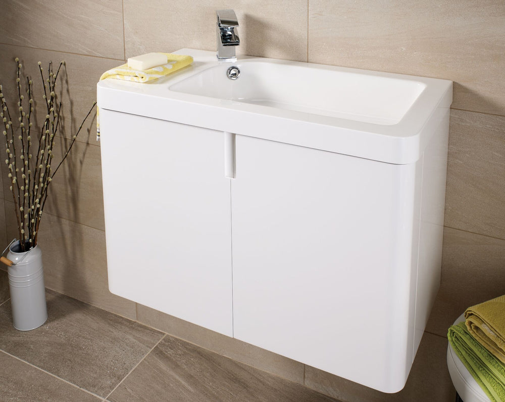 Cara 750 WH Basin Unit WHITE