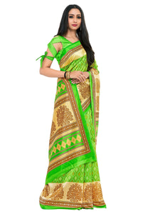 Kupinda art silk saree with unstiched blouse