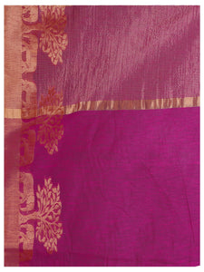 Kupinda lenin silk saree with unstiched blouse