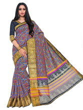 Kupinda raw silk saree with unstiched blouse