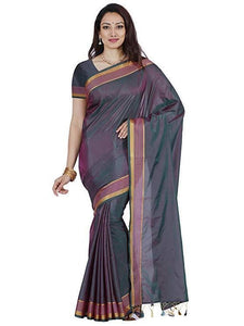 Mimosa art silk saree with unstiched blouse - grey