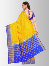 Mimosa banarasi style tussar silk saree with unstiched