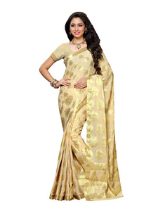 Mimosa chiffon saree with unstiched blouse - beige