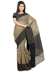 Mimosa cotton saree with unstiched blouse - grey
