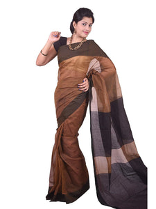 Mimosa cotton saree with unstiched blouse - mustard