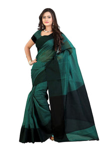 Mimosa cotton saree with unstiched blouse - turquoise