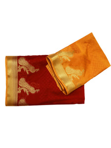 Mimosa crepe saree with unstiched blouse