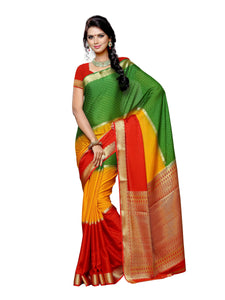 Mimosa crepe saree with unstiched blouse - green