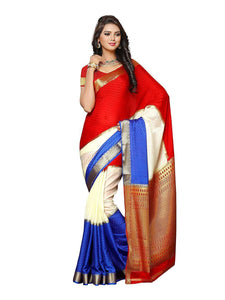Mimosa crepe saree with unstiched blouse - orange
