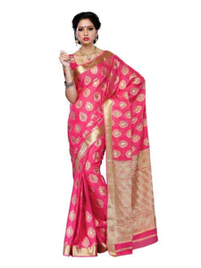 MIMOSA Motif Butta Work Crepe Saree with Blouse in Color Gajjari (3199-2076-gajj) - kupindaindia