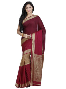 Mimosa crepe saree with unstiched blouse - purple