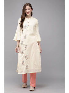 Mimosa embroidered straight kurta with trousers for women -