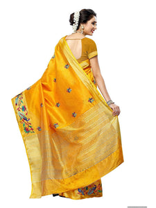 Mimosa hand embroidery tussar silk saree with blouse