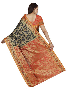 Mimosa kanjivaram art silk saree with unstiched blouse