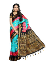 MIMOSA Multicolor Designer Art Silk Kanjivaram Style Saree with Blouse in Color Sky Blue (4001-155-3d-and) - kupindaindia