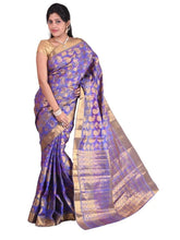MIMOSA Traditional Kanjivaram Art Silk Saree with Blouse Violet (3012-107-kp-voilete) - kupindaindia