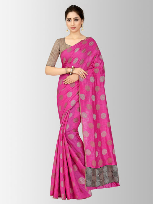 Mimosa kanjivaram style raw silk saree with unstiched blouse