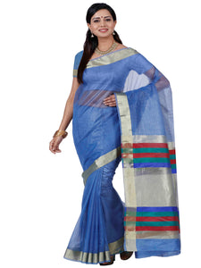 Mimosa net saree with unstiched blouse - grey