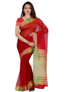 Mimosa net saree with unstiched blouse - maroon