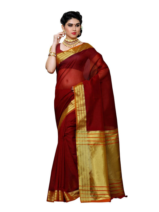 MIMOSA Fancy Style Net Saree with Blouse in Color Maroon (3388-prs2-mrn-gld) - kupindaindia