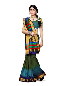 MIMOSA Dye & Dye Style Net Saree with Blouse in Color Olive (3425-prs8-3d-olv) - kupindaindia