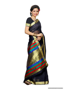 MIMOSA Bollywood Style Net Saree with Blouse in Color Navy Blue (3375-prs8-nvy) - kupindaindia
