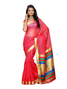 Mimosa net saree with unstiched blouse - peach