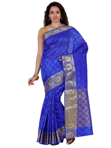Mimosa orgenza saree with unstiched blouse - blue