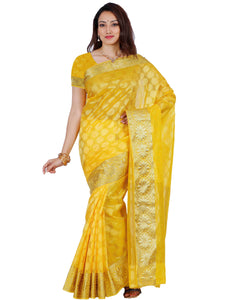 Mimosa orgenza saree with unstiched blouse - gold