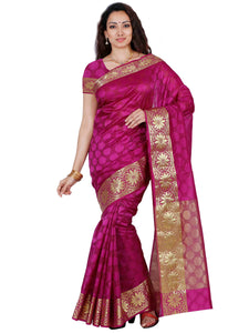 Mimosa orgenza saree with unstiched blouse - magenta