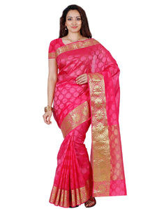 Mimosa orgenza saree with unstiched blouse - pink