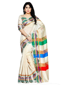 Mimosa paithani art silk saree with unstiched blouse - beige