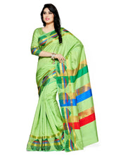 Mimosa paithani art silk saree with unstiched blouse - green