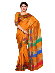 Mimosa paithani art silk saree with unstiched blouse -