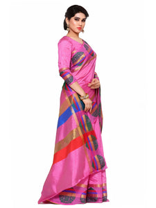 MIMOSA Beautiful Design Art Silk Kanjivaram Style Saree with Blouse in Color Pink (4109-204-sd-pnk) - kupindaindia