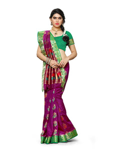 Mimosa paithani art silk saree with unstiched blouse