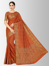 Mimosa patola style art silk saree with unstiched blouse