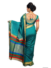 Mimosa raw silk saree with unstiched blouse